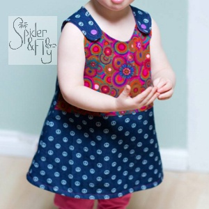 Fun and functional clothing for babies and toddlers leeds by Spider & Fly using organic cottons, available to buy from Fabrication Crafts