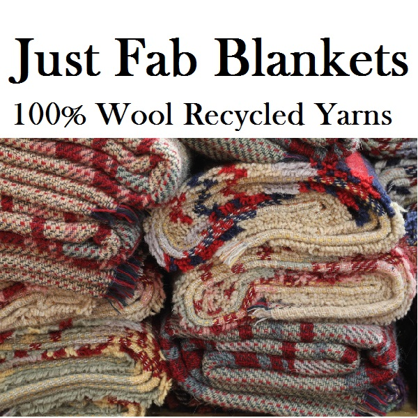 British made recycled 100% wool blankets for throws and picnics. Waterproof backed recycled wool rug rolls perfect for using as summer picnic blankets