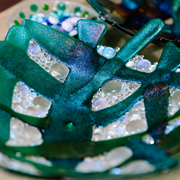 beautiful glass homewares and gifts by Twice Fired, at Fabrication Crafts for unique interior design and homewares in Leeds City Centre