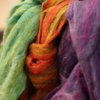felting workshop leeds city centre using wet felting to make a scarf with tutor Bobbin around. Our felting classes are suitable for beginners & experienced