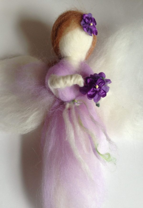 Christmas Fairy decoration workshop using felting techniques. you will create a Christmas fairy or angel decoration using wool fibres