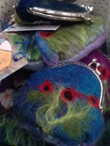 Felted purses by Bobbinaround