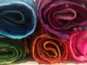colourful scarves by Bobbinaround