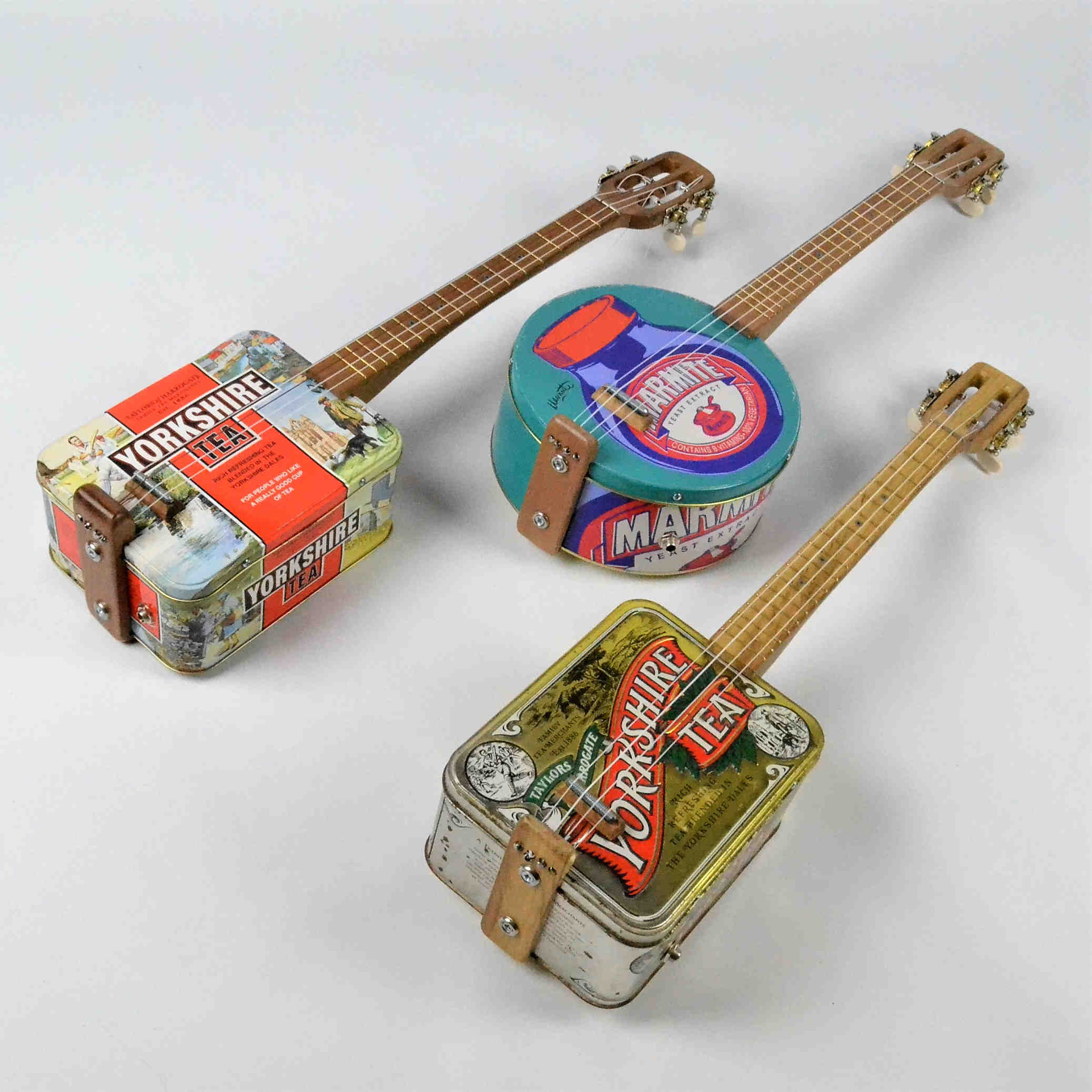Canjo's, Guitars and Ukeleles lovingly hand crafted stringed musical instruments, made from reclaimed and recycled materials.