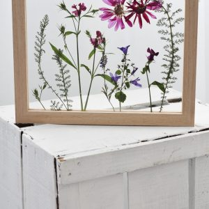 Create your own pressed flower frame york city centre with Emma from Elm Photography by learning different flower pressing techniques