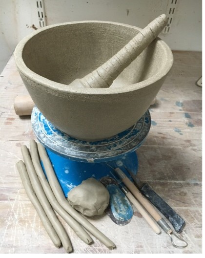 Make a Pestle and Mortar with Margaret Glackin On the day you will learn how to prepare the clay prior to hand building using pinching