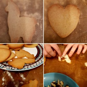 cookie hearts baked and ready to decorate